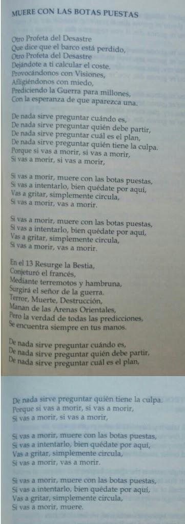 diewithyourbootson-letra