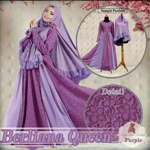 Aprianti Collection Gamis Berliana Queen Violet Baju Hijabers