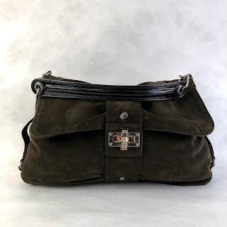 Lavin Olive Suede Bag