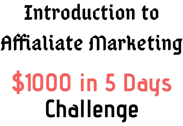 What is Affialiate Marketing [ $1000 in 5 Days ]