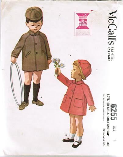 McCall's 6255.  Child's coat and cap, 1962.