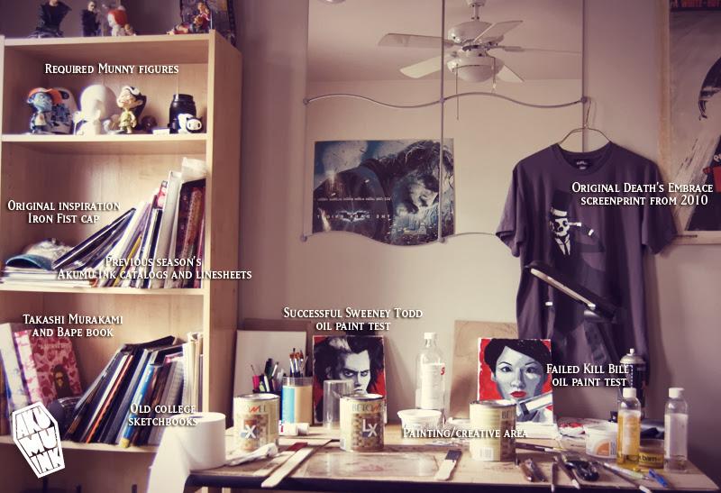 studio, painter studio, vinyl toys studio, nightmare gallery