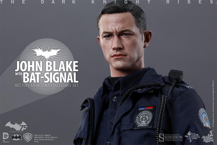 JOHN BLAKE WITH BAT-SIGNAL