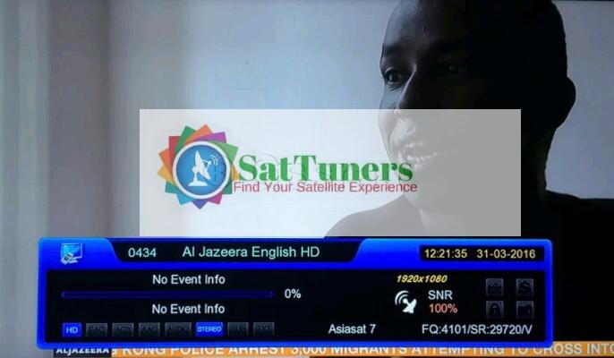 Al Jazeera English HD Started on Asiasat 7 @ 105 5* East - Sat Tuners