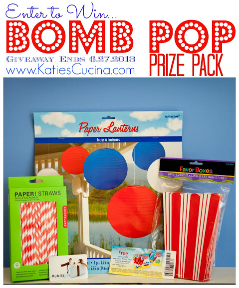 Enter to Win a Bomb Pop Prize Pack from KatiesCucina.com #giveaway #summer