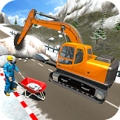 Snow Cutter Excavator Simulator-Winter Snow Rescue
