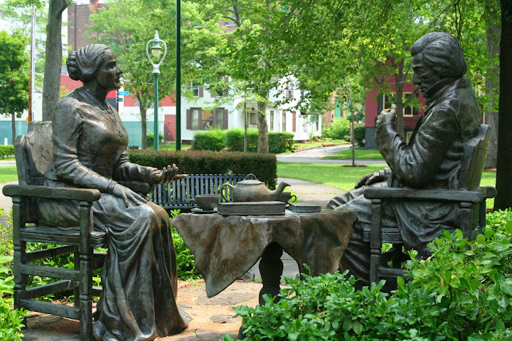 Anthony and Douglass statue, Rochester, NY. From 100 Places in the USA Every Woman Should Go