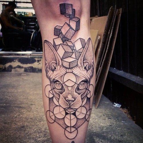 dotwork_em_cubos_gato_bezerro_de_tatuagem
