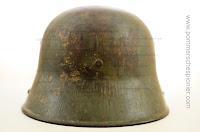 Szaro-zielony hełm stalowy M1917