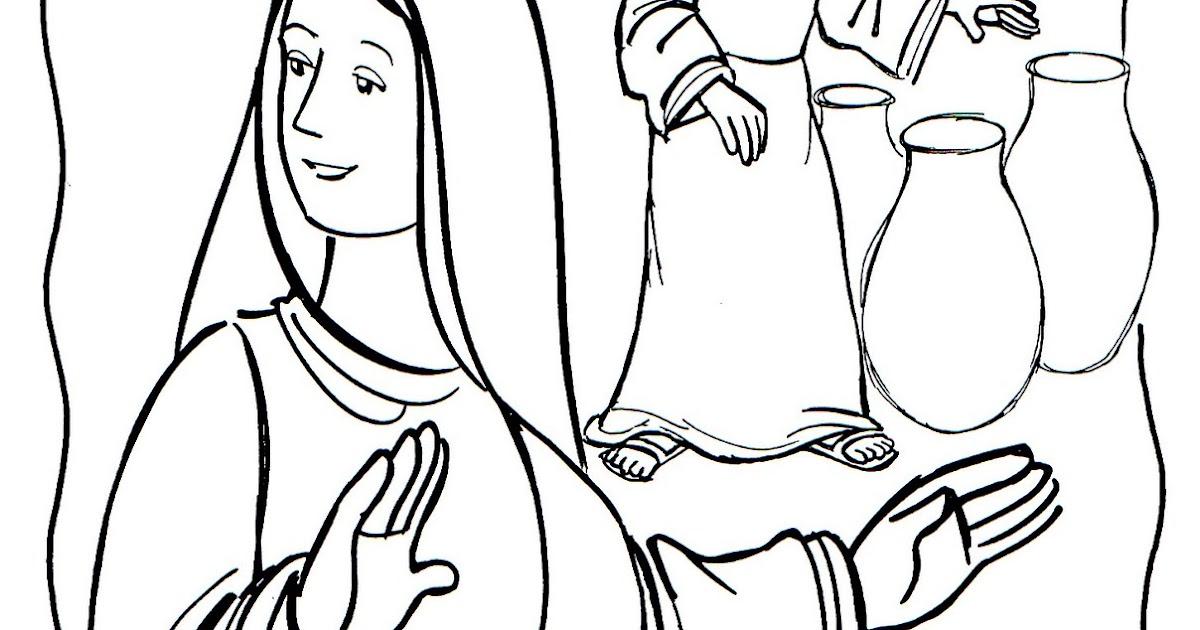 Dibujo Para Pintar De Las Bodas De Caná A Capernaum: Actividades ...