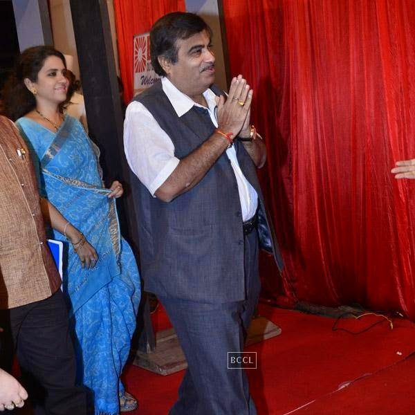 Nitin Gadkari at the International Indian Achievers Awards event, held at Filmcity in Mumbai. (Pic: Viral Bhayani)