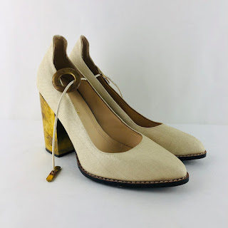Marcela B. NEW Beige Canvas Pumps