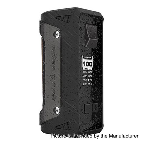 authentic geekvape aegis 100w water proof tc vw variable wattage box mod black zinc alloy 5100w 1 x 18650 26650%255B4%255D - 【期待の新製品】「GeekVape AEGIS 100W TC BOX MOD」耐衝撃、防水、防塵のMOD!!18650/26650両対応の最高クラスMOD