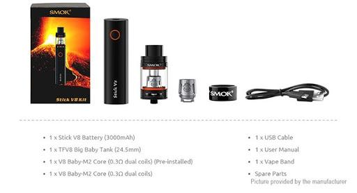6390001 3 thumb%25255B2%25255D - 【MOD】「Smoktech SMOK Stick V8 3000mAhスターターキット」レビュー。大容量3000mAhバッテリー採用の爆煙スターター!【電子タバコ/爆煙】