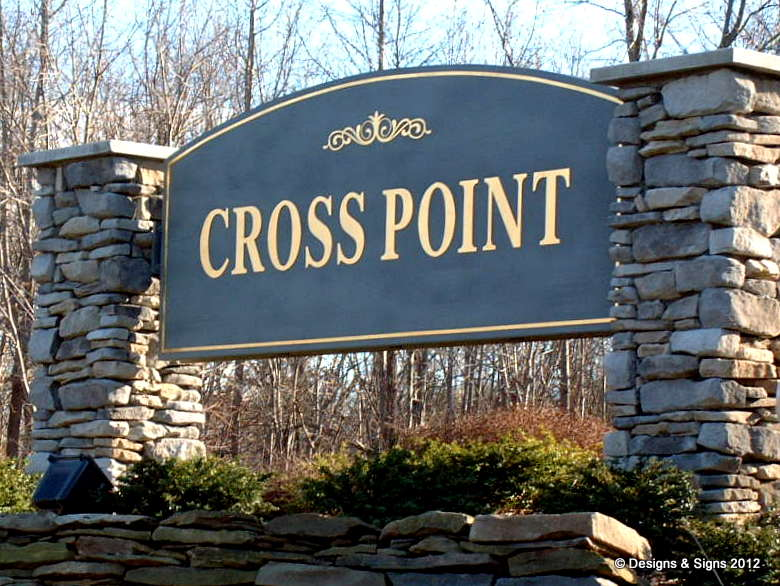 sandblasted sign - cross point