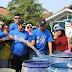 Wakapolres Serang Kota Mendampingi Walikota Beri Air Bersih Kepada Warga
