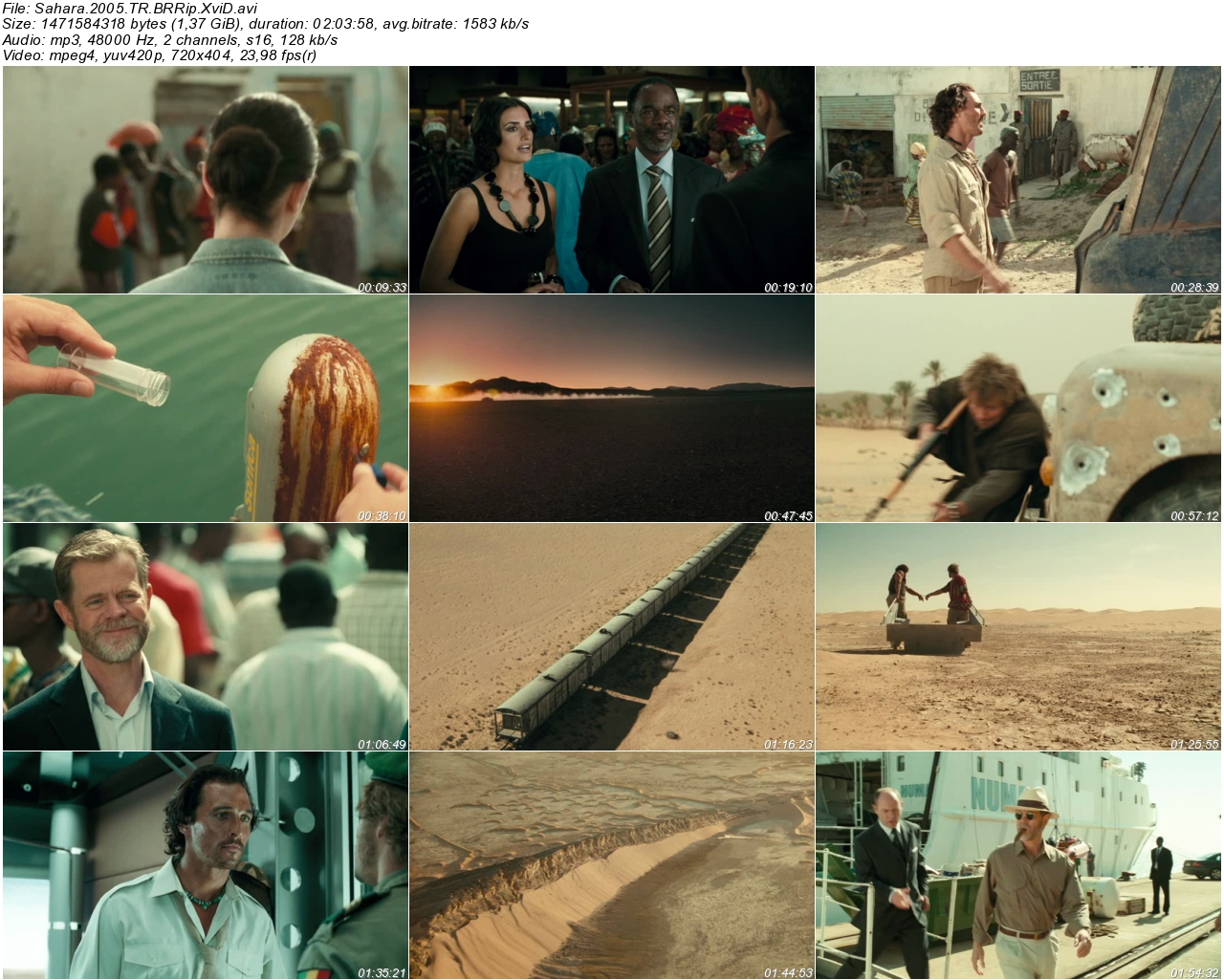 Sahara 2005 - 1080p 720p 480p - Türkçe Dublaj Tek Link indir