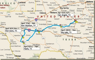 San Angelo to Ft. Davis