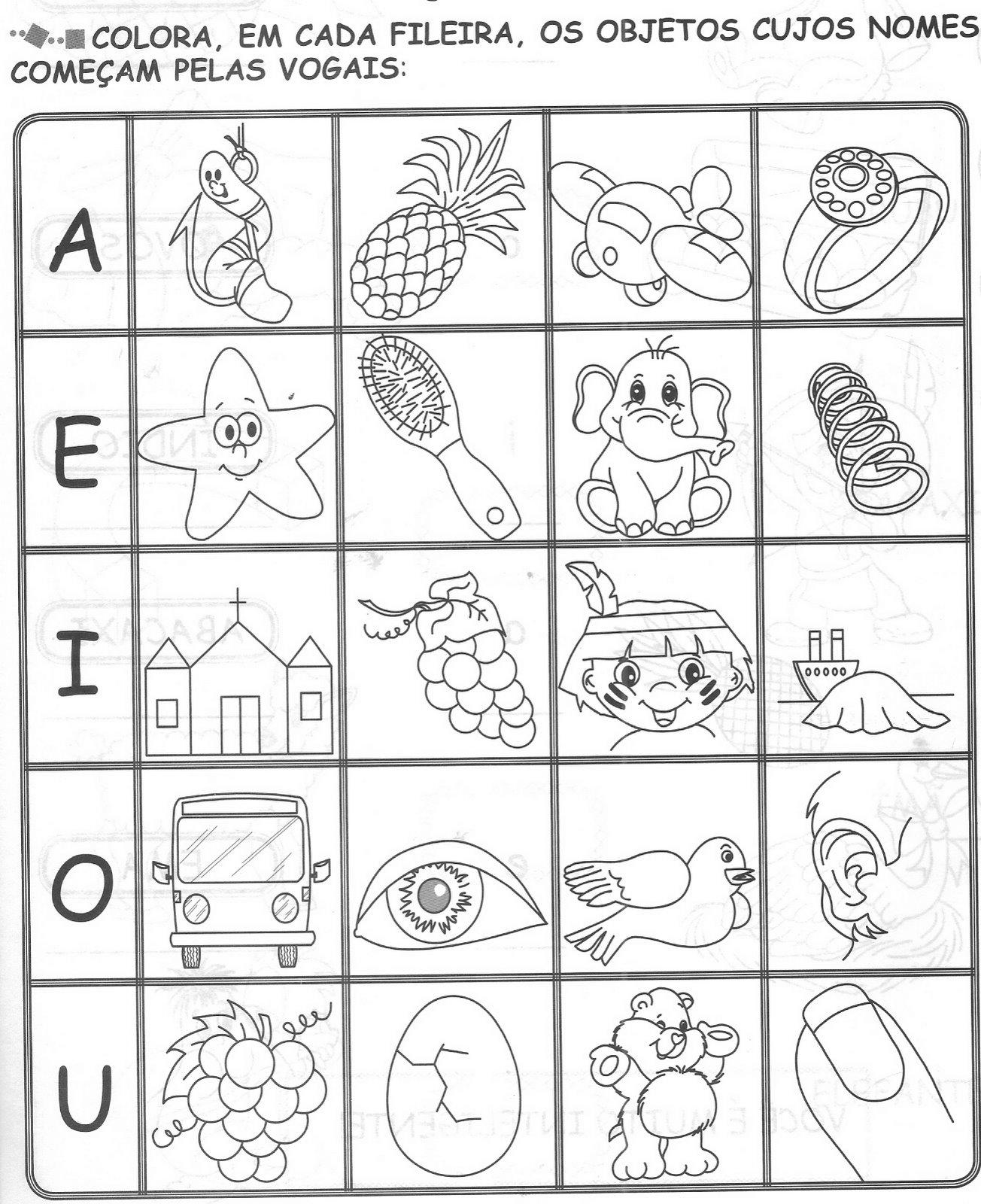 Amado Educação infantil - Atividades: Vogais ZZ45