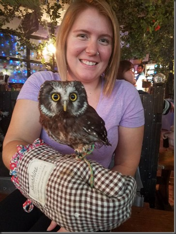 Alliewith her friend Owl in japan10-14-16a