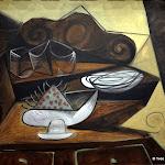 Pablo Picasso, Le Buffet du Catalan, 30 mai 1943, Huile sur toile