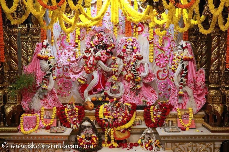ISKCON Vrindavan Sringar Deity Darshan 06 Jan 2016 (11)