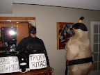 Security compliments of The Dark Knight and Mr. Sumo