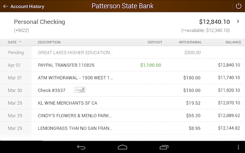 Patterson State Bank Mobile Screenshot 12