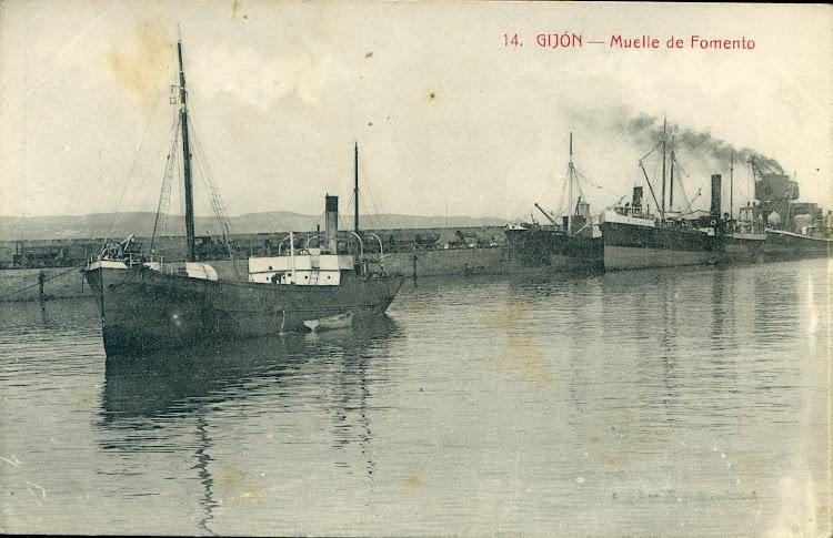 Vapor ALLER. Muelle del Fomento. Gijón. Fecha indeterminada.jpg
