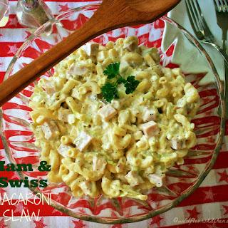 Ham & Swiss Macaroni Slaw