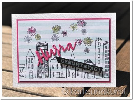 Geburtstagskarte mit SU Stadt, Land, Gruß