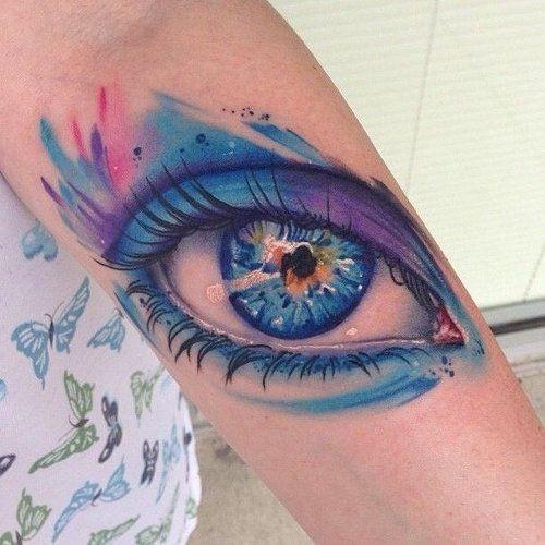 aquarela_do_olho_do_antebraço_tatuagem