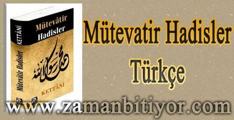Mütevatir Hadisler Türkçe Hadis Kitabı İndir