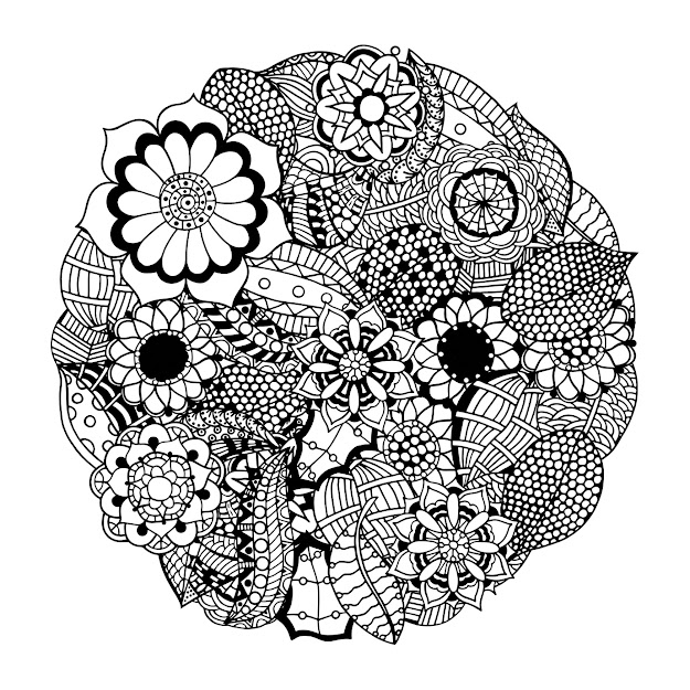 Mandala Flower Coloring Book With