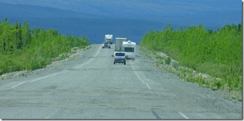 Alaska Highway, Froast Heaves and closest thing to a traffic jam