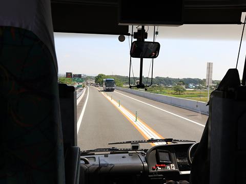 西鉄高速バス「桜島号」 9134 車窓 対面通行区間 その4
