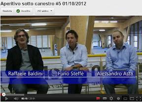 Trieste: 5a puntata di Aperitivo sotto Canestro, ospite coach Furio Steffè