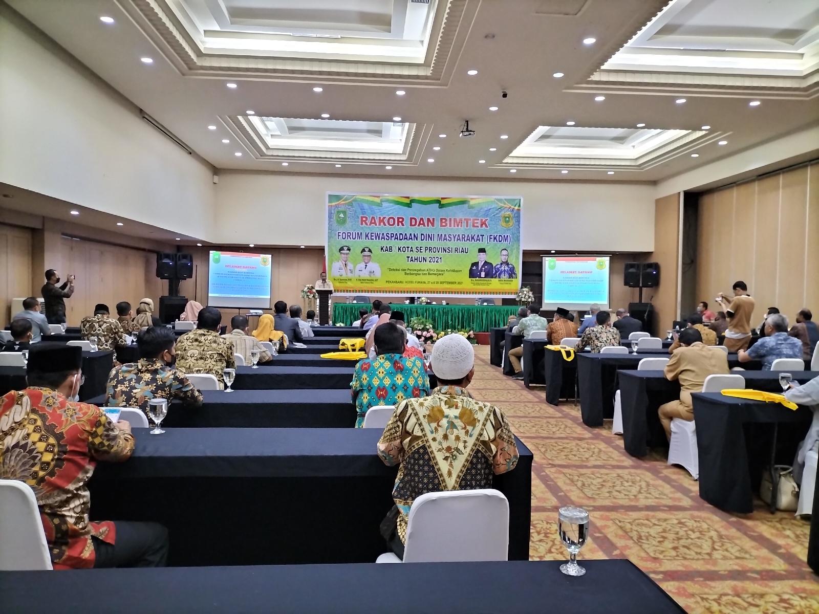 FKDM Riau Taja Rakor dan Bimtek Bagi Pengurus FKDM Se Riau