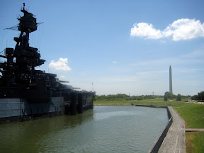 this is the USS Texas, the last Dreadnaught ever made. It's docked across from the Oak Tree at San Jacinto: where the Texan Army ambushed Santa Ana and massacred every Mexican that was stupid enough to ask a white man for mercy