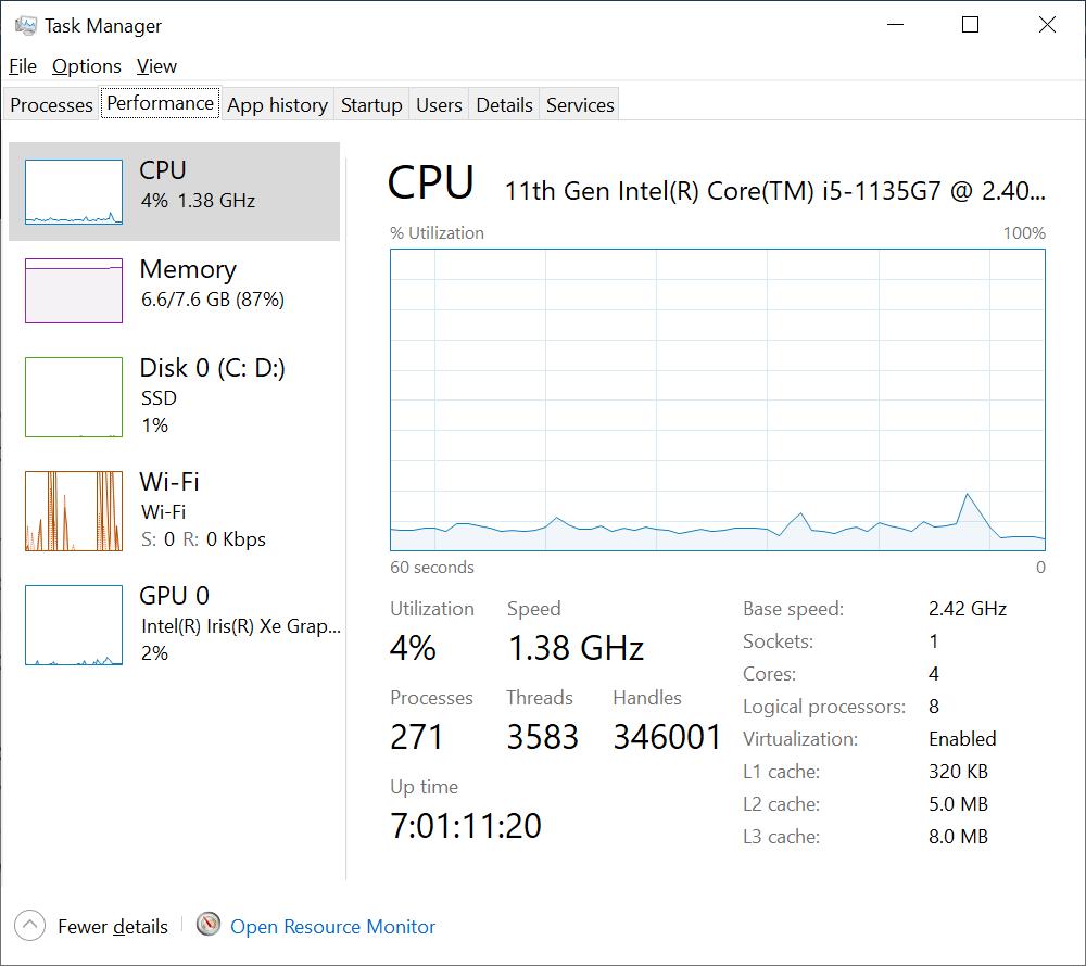 Method to reduce CPU temp