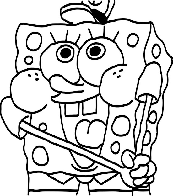 Baby Spongebob Coloring Page High Quality
