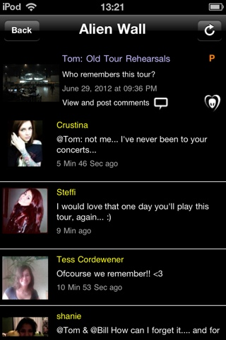 BTK App Update: Tom: Old Tour Rehearsals…Who remembers this tour?""