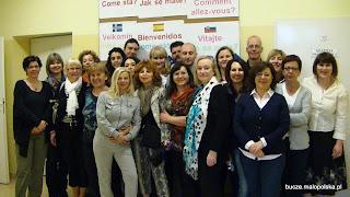 Spotkanie podsumowujące projekt unijny Comenius w PSP Bucze. maj 2012