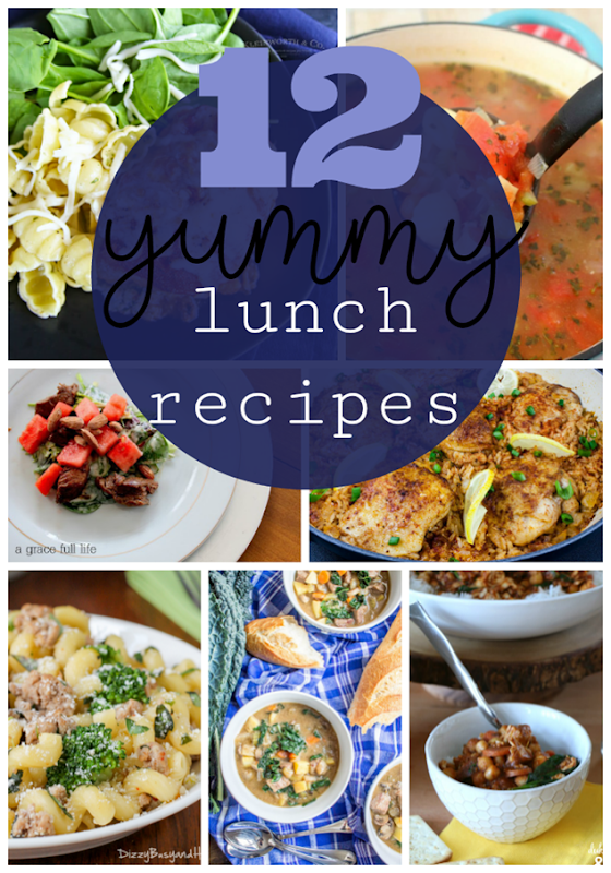 12 Yummy Lunch Recipes at GingerSnapCrafts.com #lunch #recipes