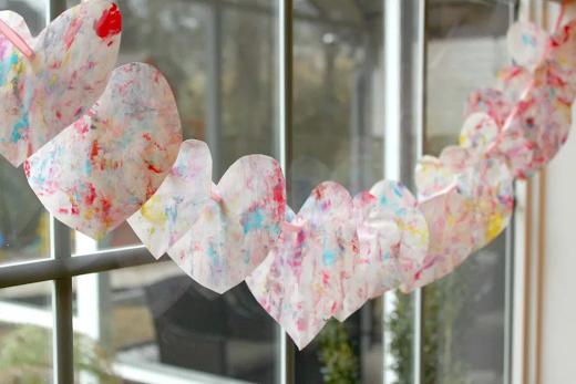 Michelle's pick, Valentine's Day Marbled Heart Garland.