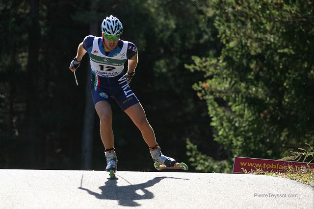 FIS Rollerski World Cup 2013 at Dobbiaco, Toblach, Italy.Italian team Team Sprint race photo: © PierreTeyssot.com