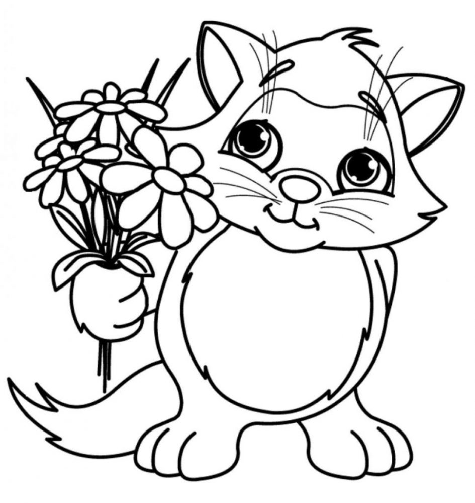 Unique Simple Flower Coloring Pages For Kids Design Kids Children And Adult Coloring Pages