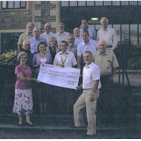 2009. Presentation of cheque for £3,000 to the RUH Forever Friends Appeal