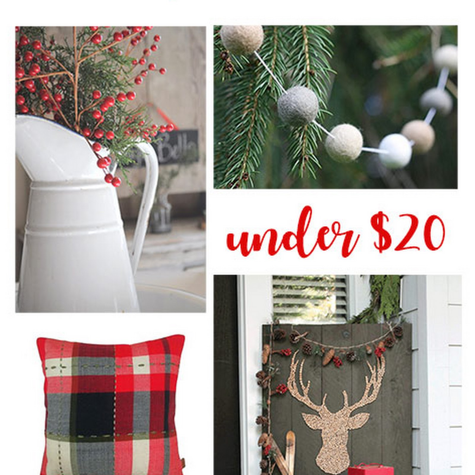 Farmhouse Christmas Decor for Under $20