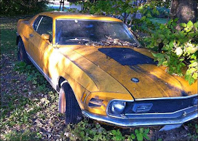 Abandoned Ford Mustang